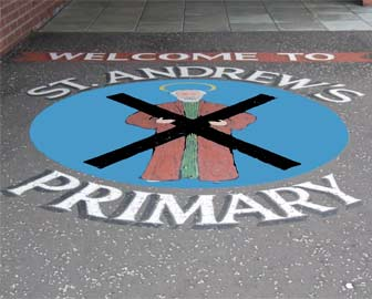 Image of the welcome sign at Saint Andrews Primary School