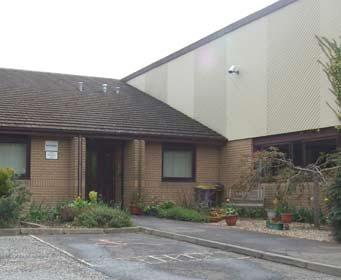 Image of the main entrance to Saint David's Primary School