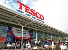 Image of the the entrance to Tesco Hardengreen