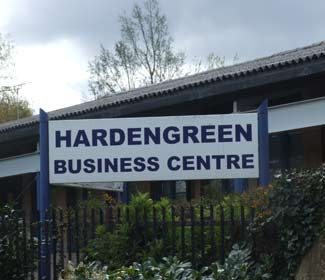 Image of entrance to Hardengreen Business Centre