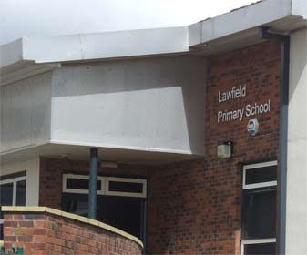 Entrance to Lawfield Primary Scool