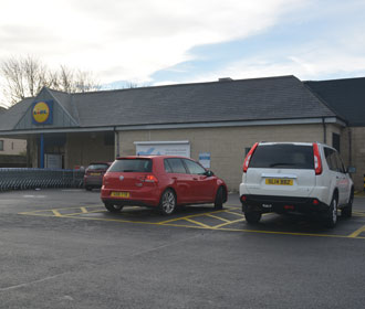 Image of the rear of Lidl Dalkeith